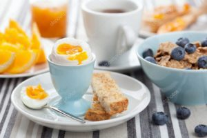 Healthy breakfasts will start the day on a positive tone in menopause.