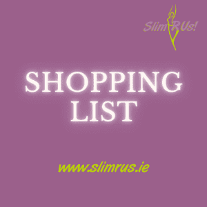 Shopping list to get back on track