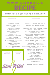 Tomato & Red Pepper Fritatta Recipe is a healthy option for weight loss
